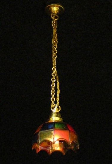 Ck2400 colored tiffany hanging lamp hs