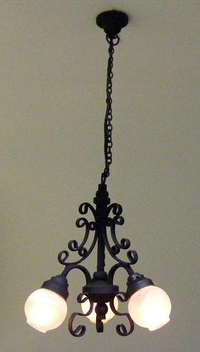 Ck3011 black 3 arm filigree chandelier