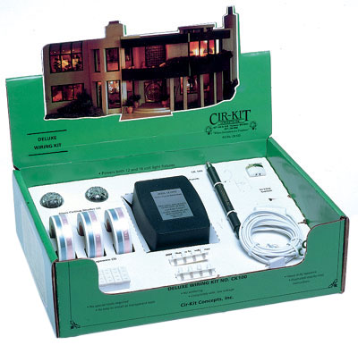 deluxe wiring kits 139 96 cir kit concepts inc dollhouse rh cir kitconcepts com Dollhouse Wiring Strip Cir-Kit Concepts Inc